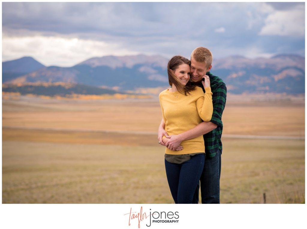 Fall engagement shoot in Colorado at Kenosha Pass engagement photographer