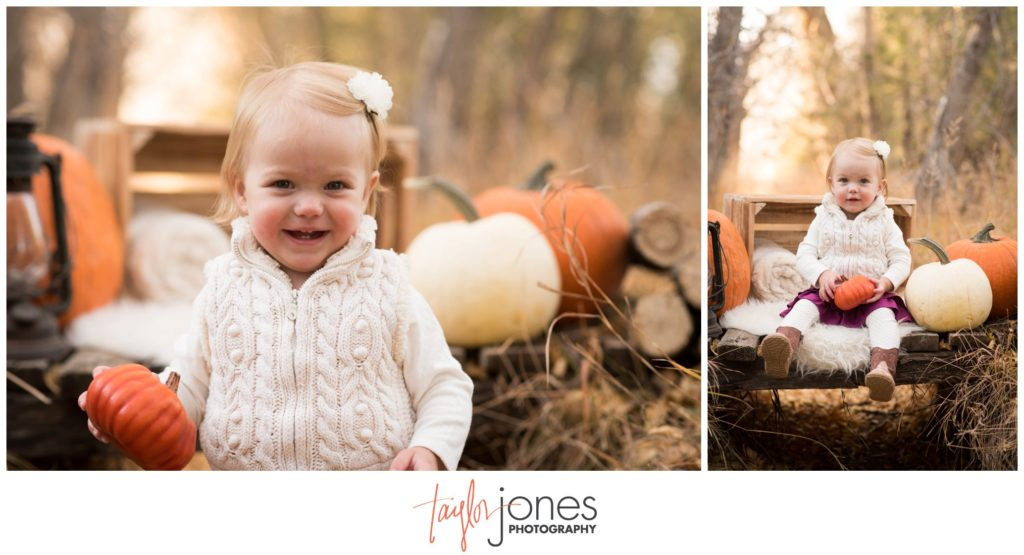 Fall family shoot with pumpkins in Salida Colorado photographer
