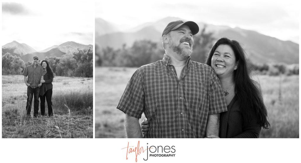 Family photo shoot at ranch in Salida Colorado
