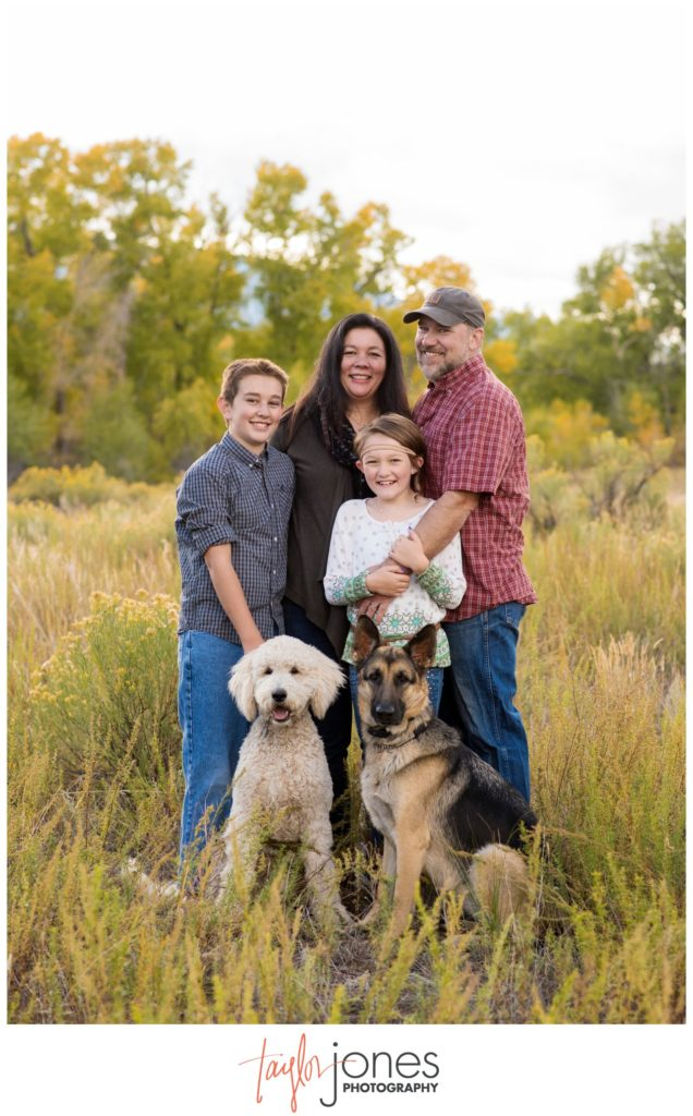 Salida Colorado photographer at ranch for family shoot