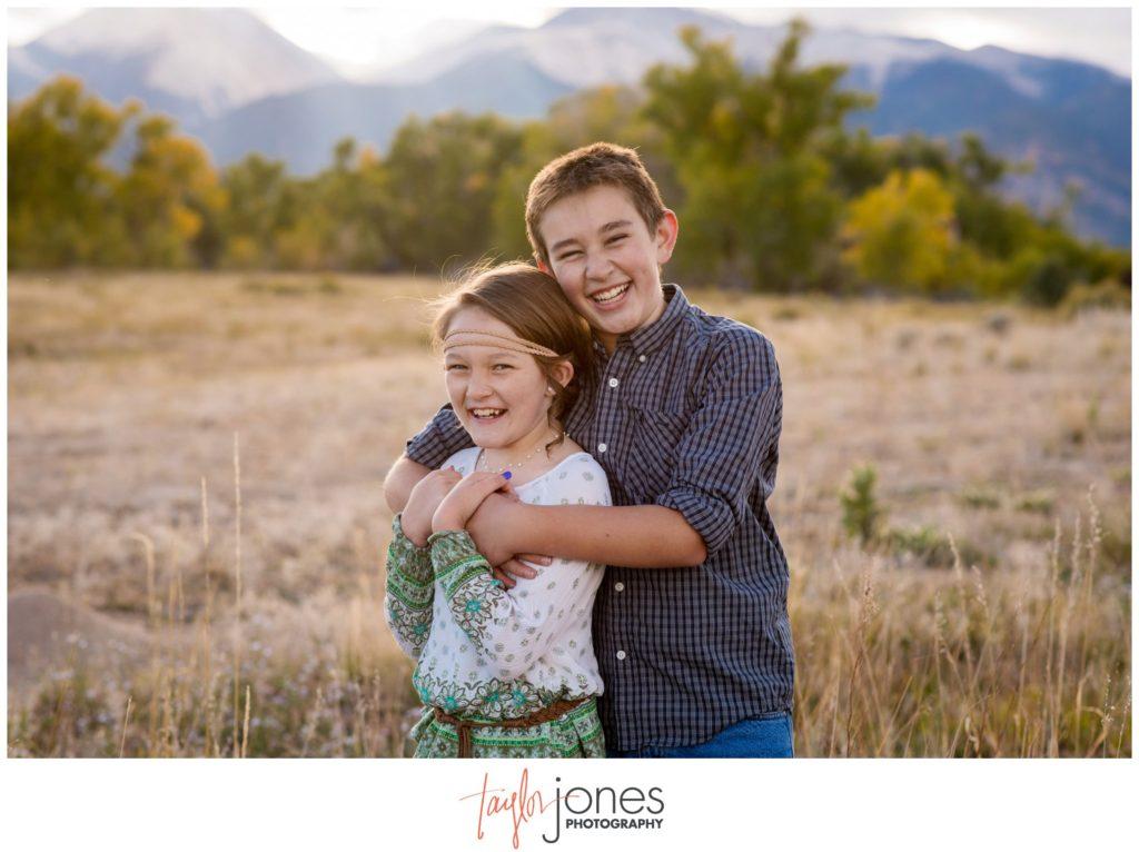Family portraits in Salida Colorado