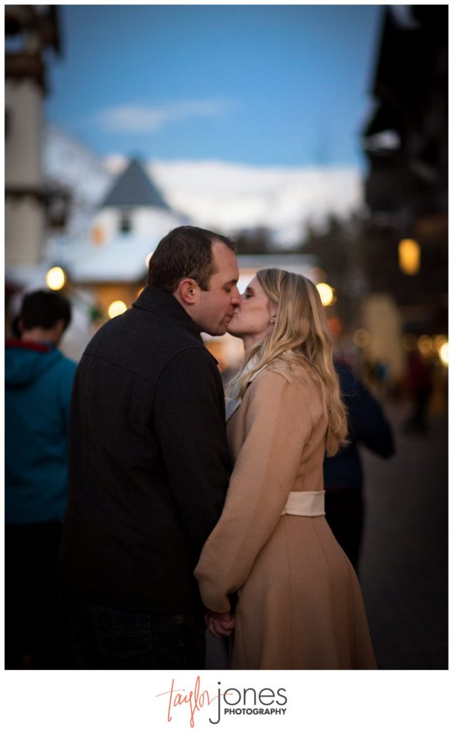 Vail engagement shoot in the winter Colorado Photographer