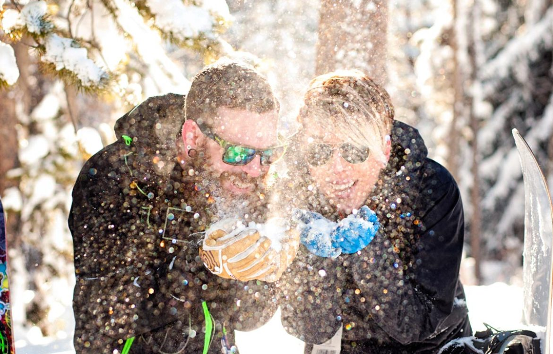Colorado winter engagement shoot in Keystone