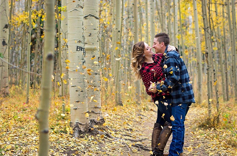 Fall engagement shoot at Kenosha Pass in Jefferson Colorado