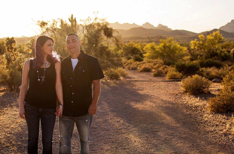 Desert engagement shoot at Dutchman State park