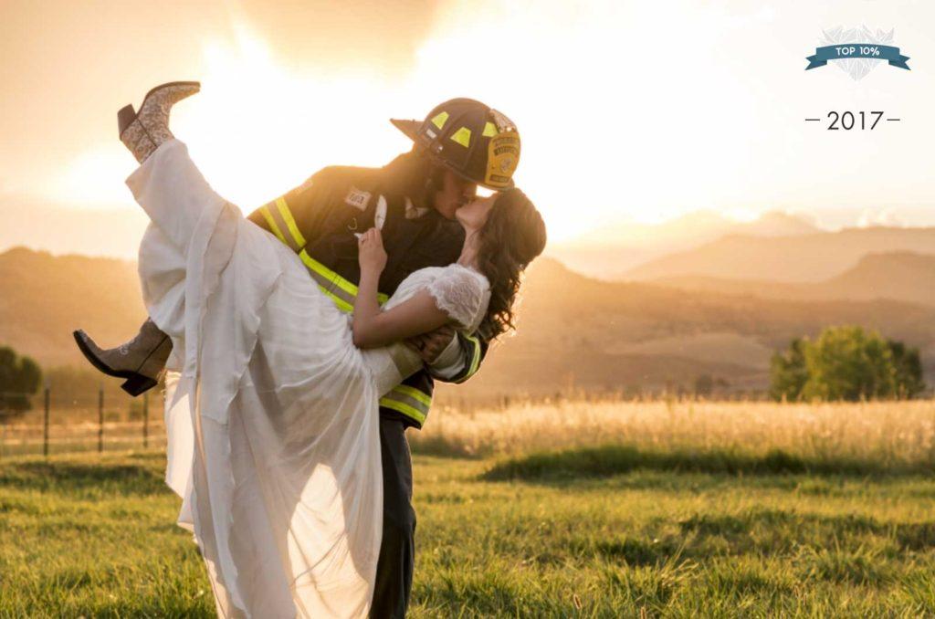 Famous Colorado wedding photographer at Shupe Homestead