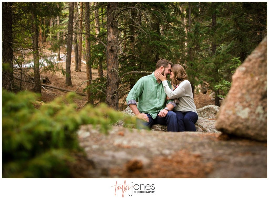 Evergreen Colorado engagement shoot