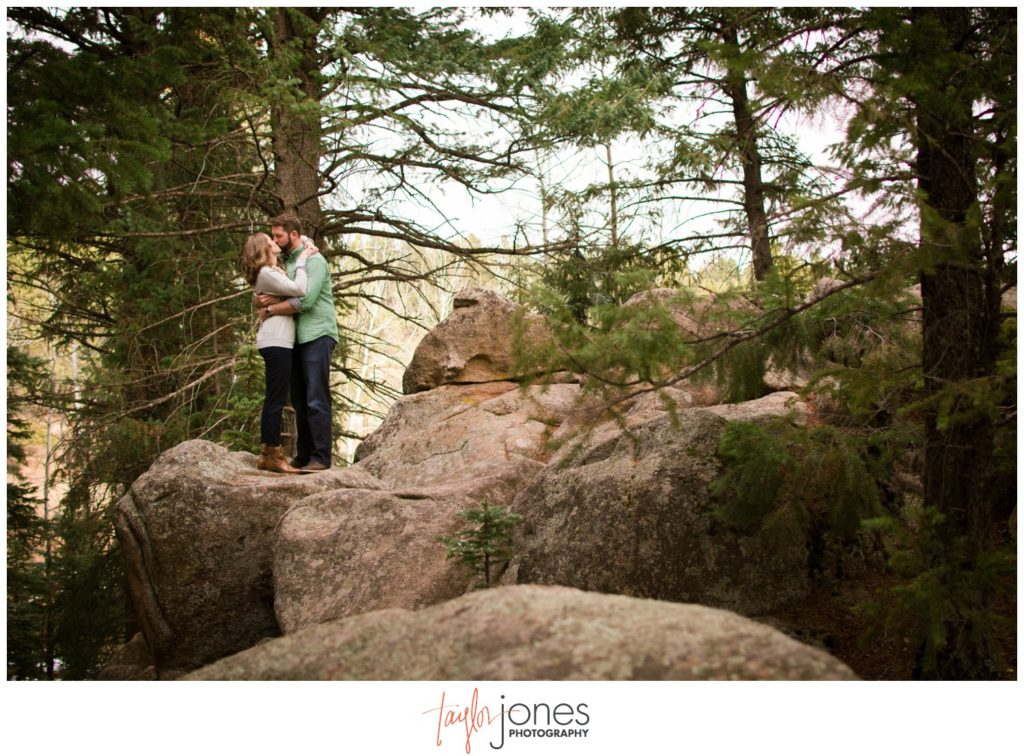 Evergreen Colorado engagement photographer at Flying J Ranch