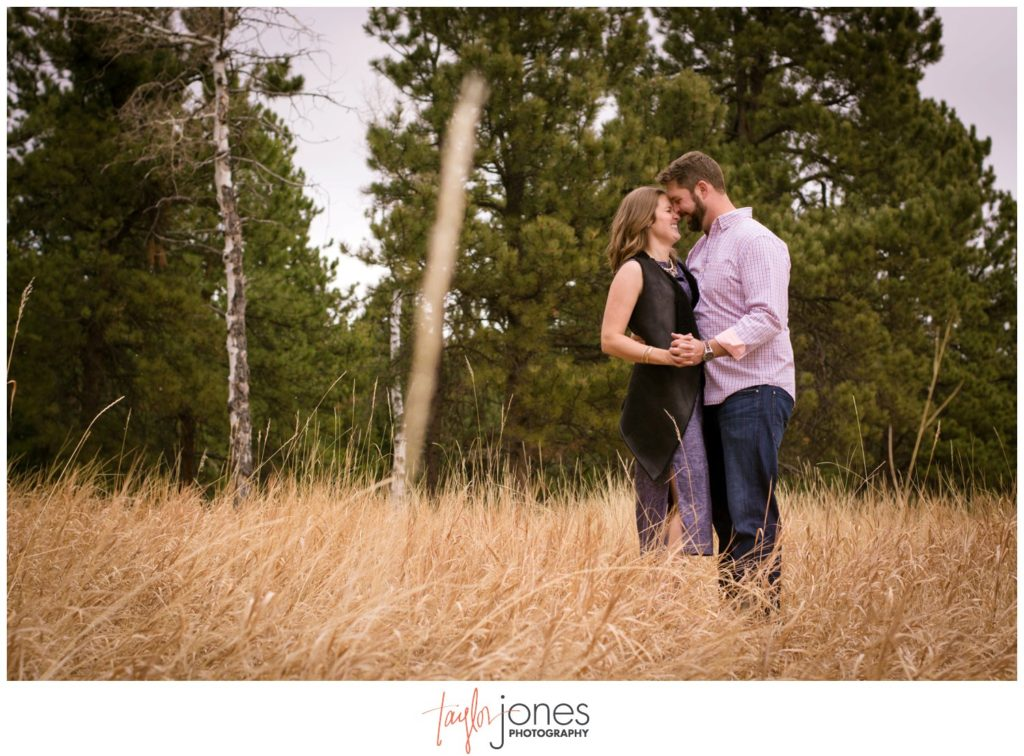 Evergreen engagement shoot at Flying J ranch photographer