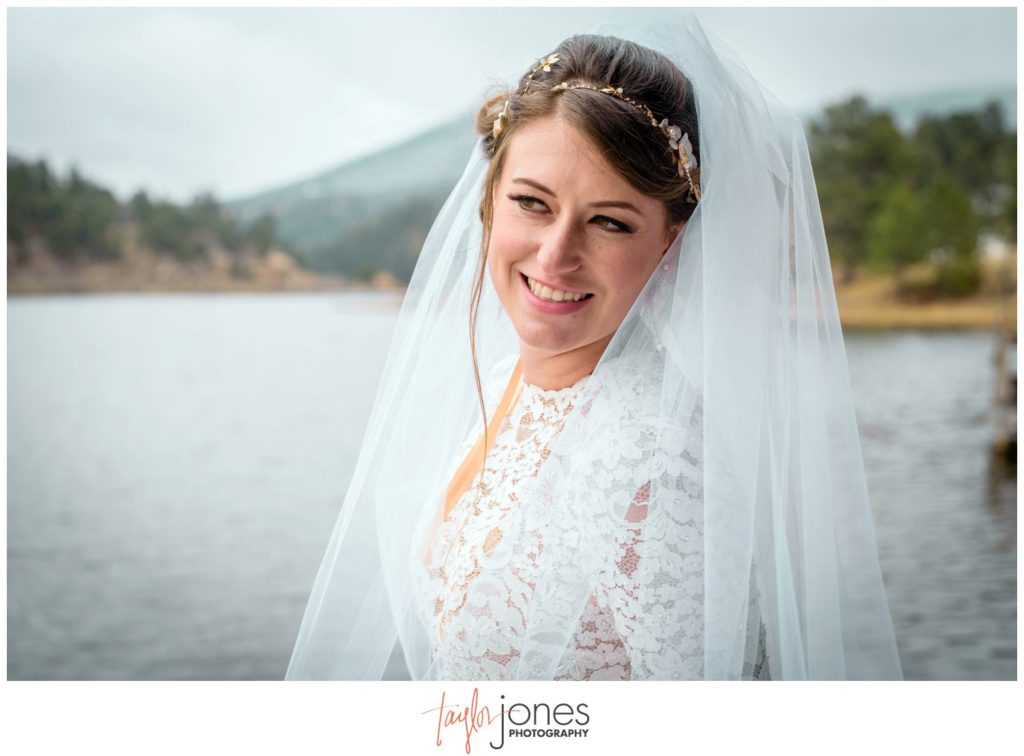 Bride at Evergreen Lake House