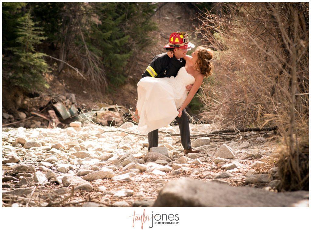 Mount Princeton Colorado wedding photographer river