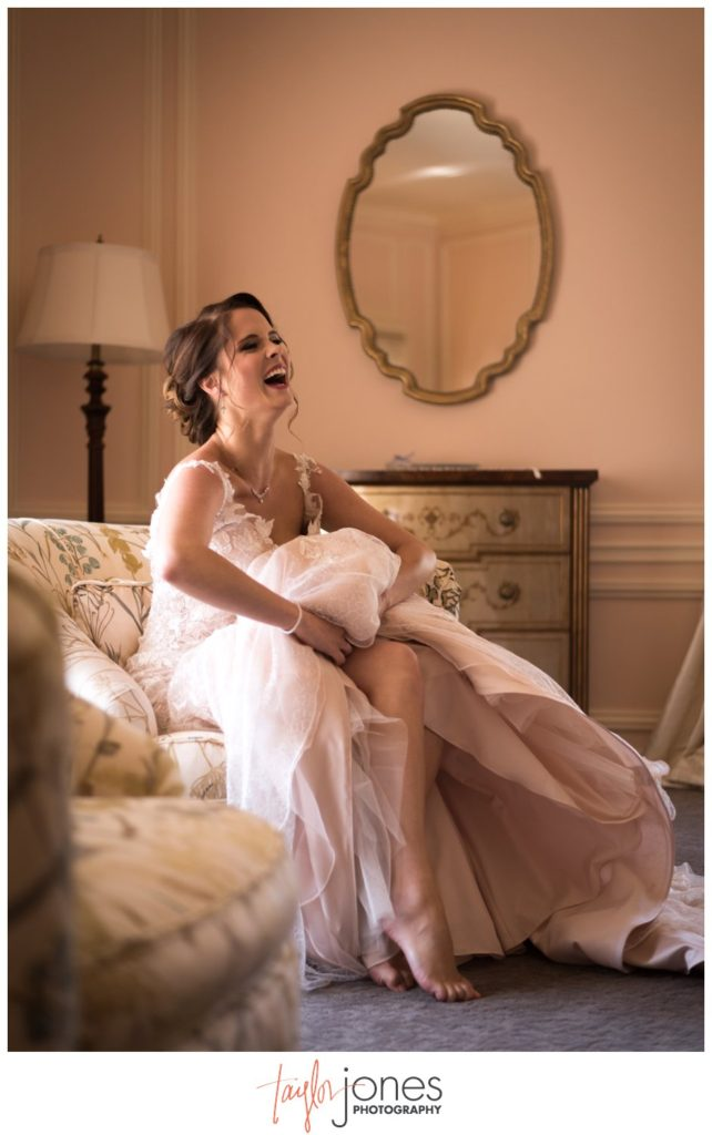 Bride getting ready at Highlands Ranch Mansion wedding
