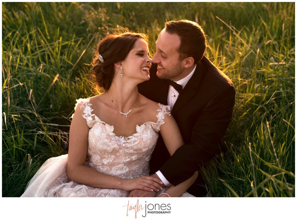 Bride and groom at Highlands Ranch Mansion wedding