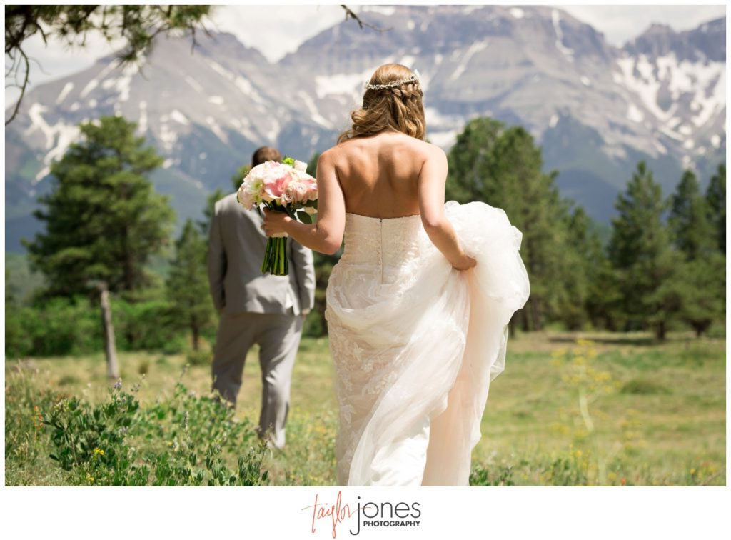 Top of the Pines Ouray Colorado wedding ceremony