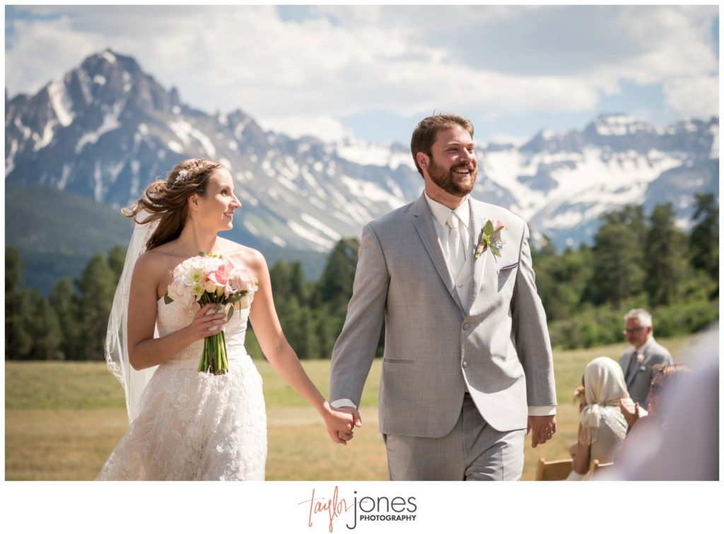 Top of the Pines wedding ceremony Ouray Colorado