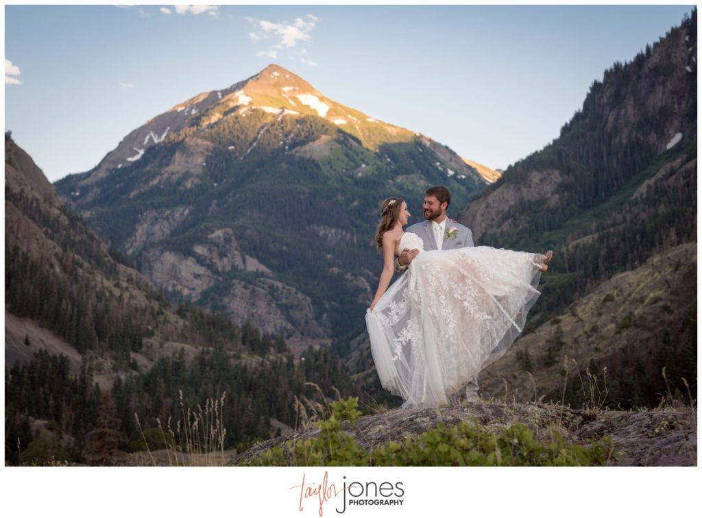 Beaumont Hotel wedding in Ouray Colorado