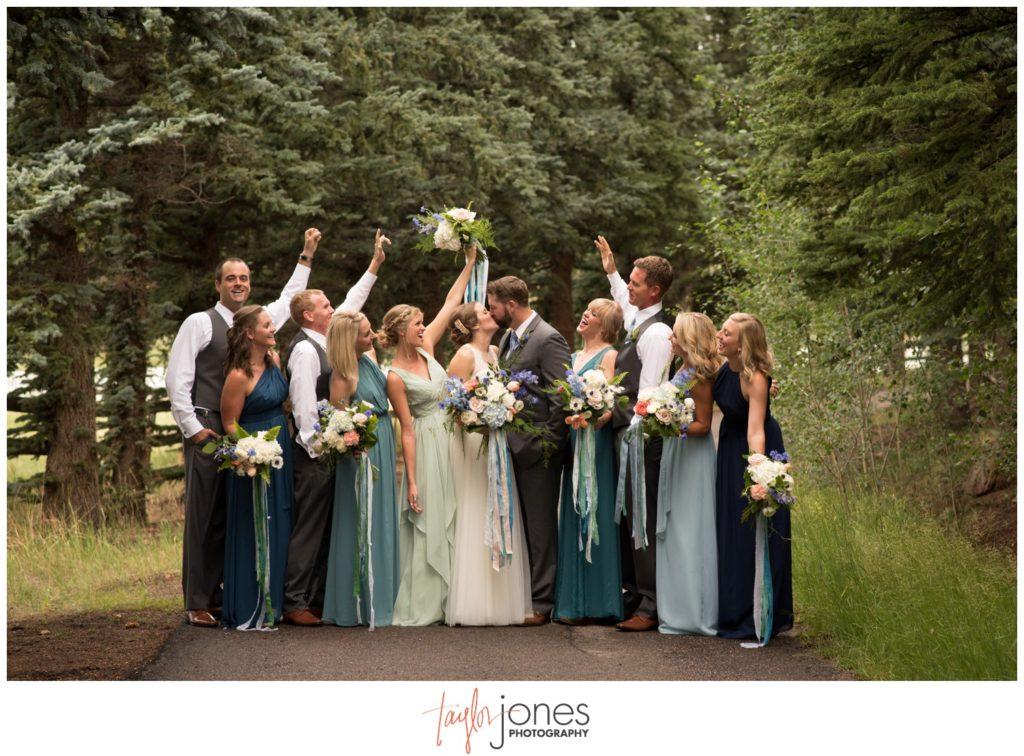 Bridal party at Deer Creek Valley Ranch wedding