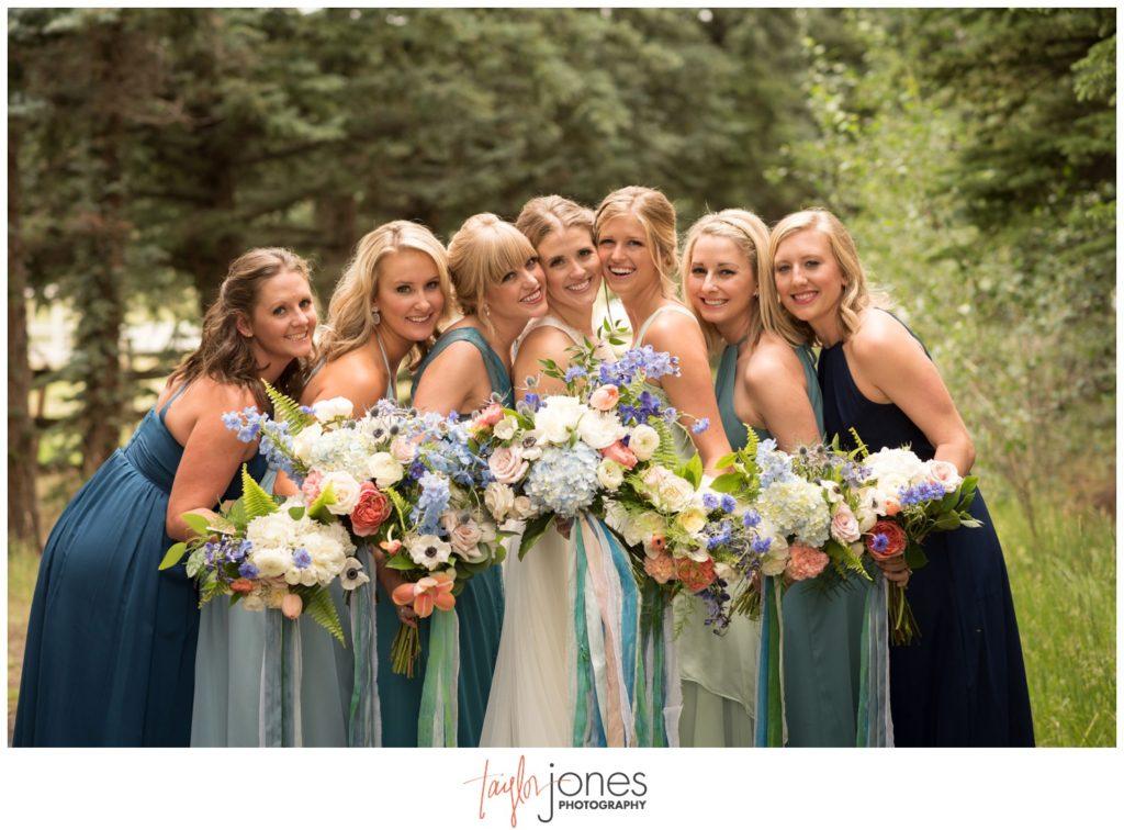 Bridesmaids at Deer Creek Valley Ranch wedding