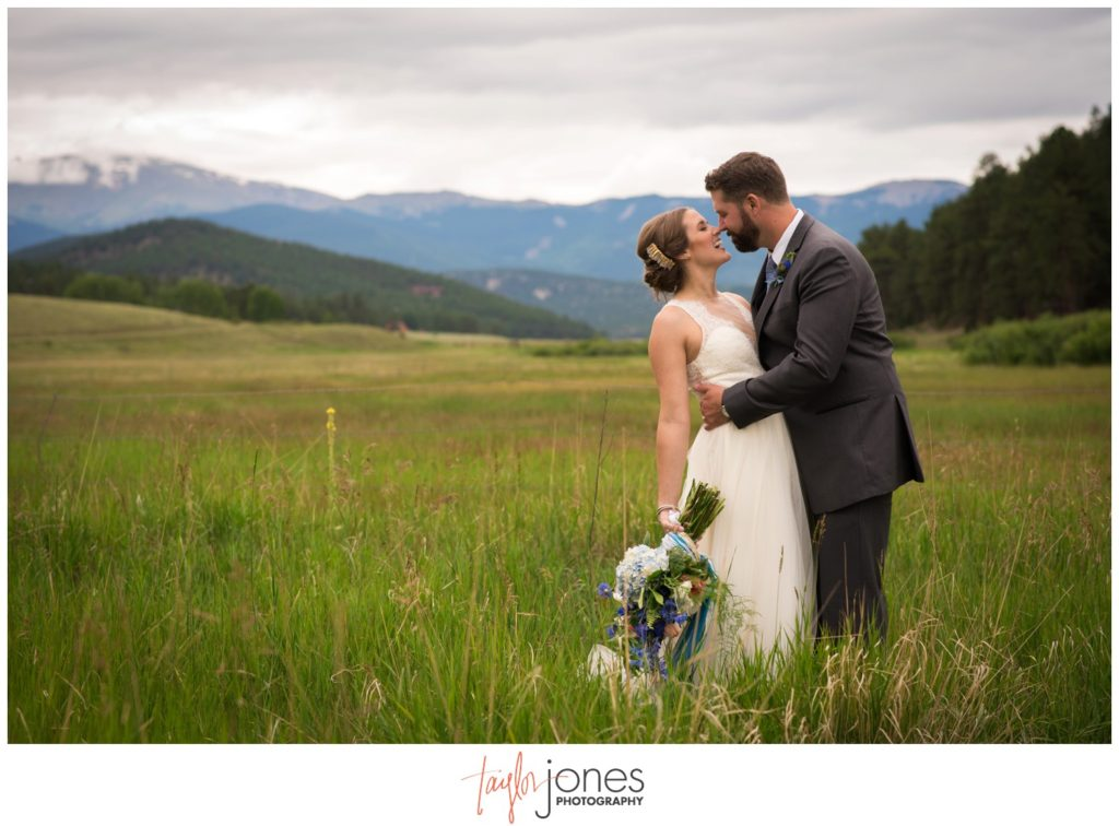 Deer Creek Valley Ranch wedding in the meadow