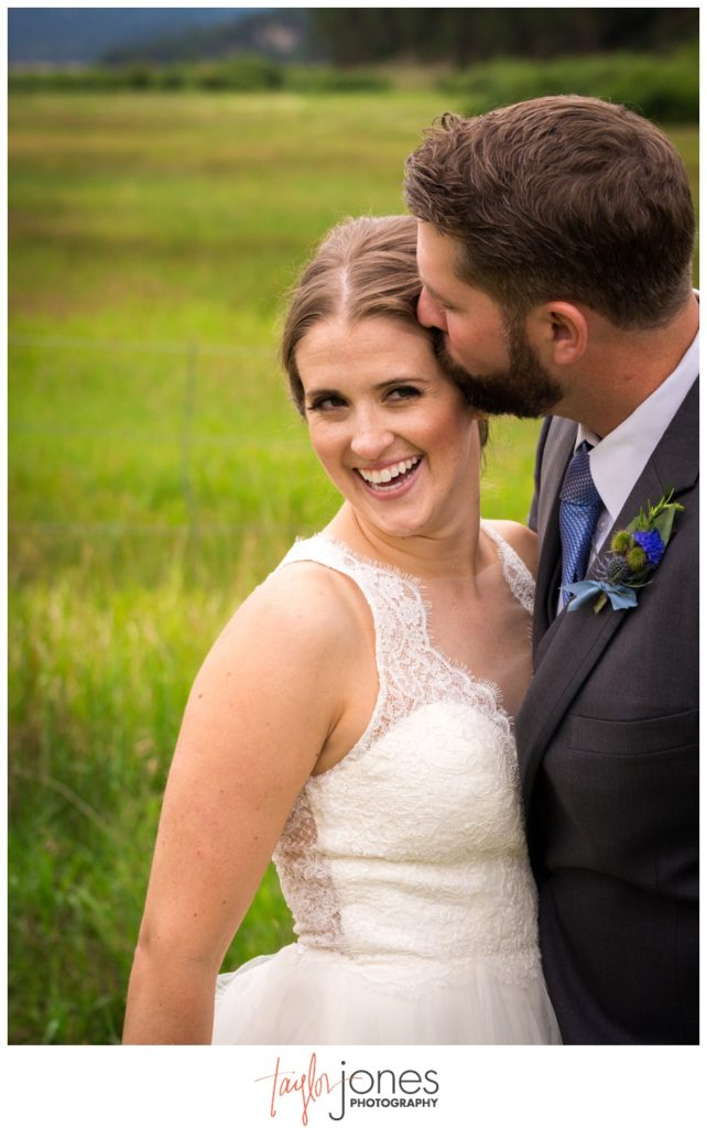 Bride and groom at Deer CreeK Valley Ranch wedding