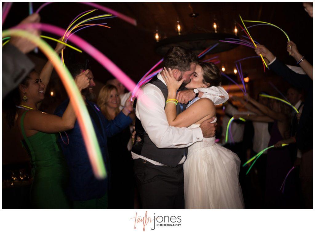 Glow stick exit at Deer Creek Valley Ranch wedding