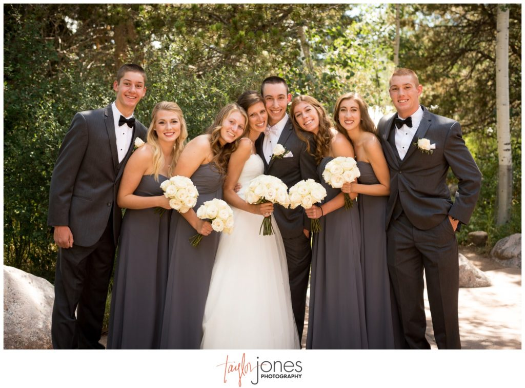 Bridal party at the Donovan Pavilion in Vail Colorado