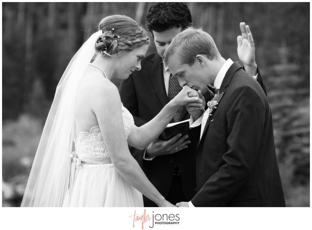 Windy Point Breckenridge Colorado Wedding Ceremony