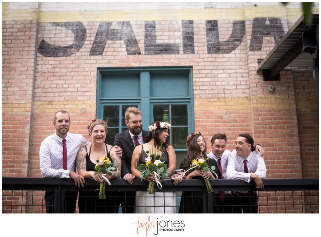 Salida Colorado wedding photographer at the SteamPlant with bridal party