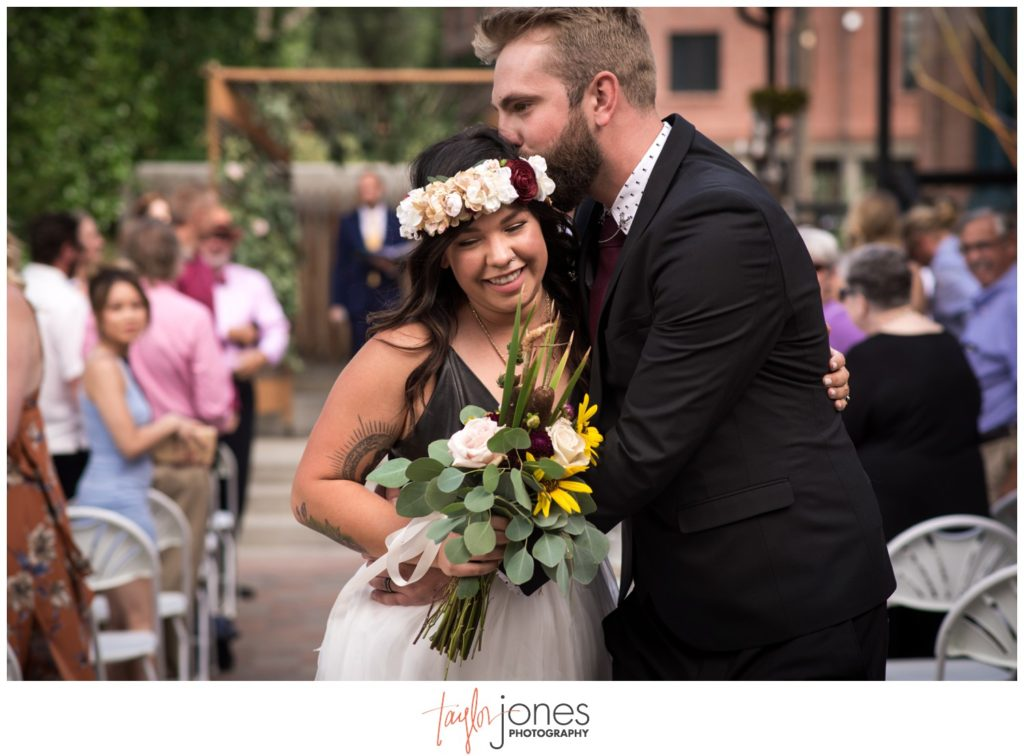 Salida Colorado wedding photographer at the Salida SteamPlant wedding ceremony