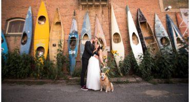 Kayak wall in Salida Colorado wedding photographer