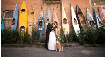 Kayak wall in Salida Colorado wedding photographer