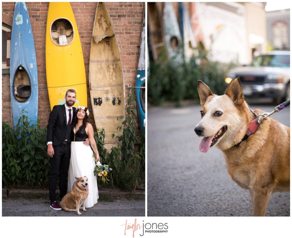 Salida Colorado wedding photographer by kayak wall