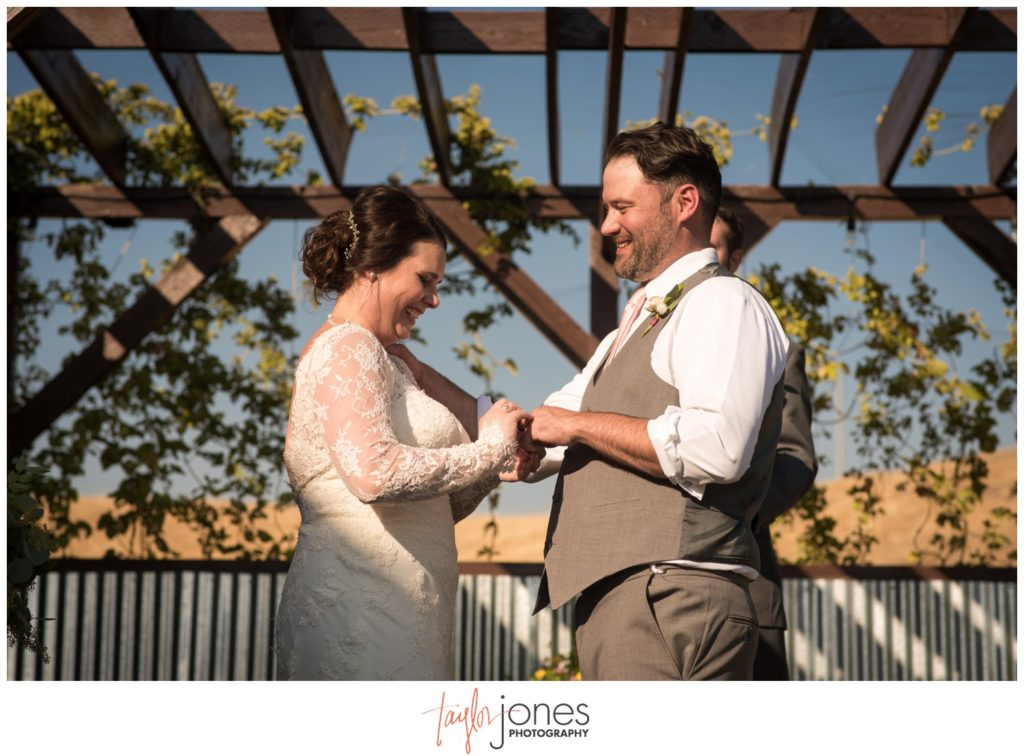 Missoula Montana wedding photographer at the Missoula Winery wedding ceremony