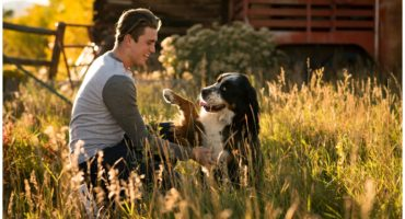 Salida Colorado senior photography with dog