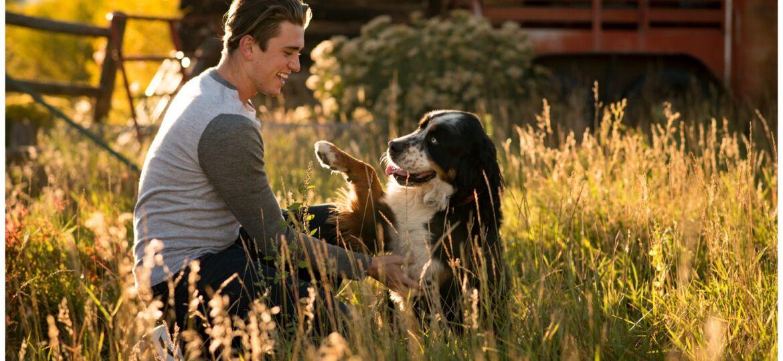 Salida Colorado senior photography with dog