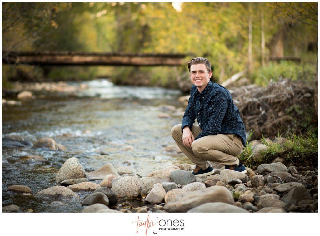 Salida Colorado senior photography at the river