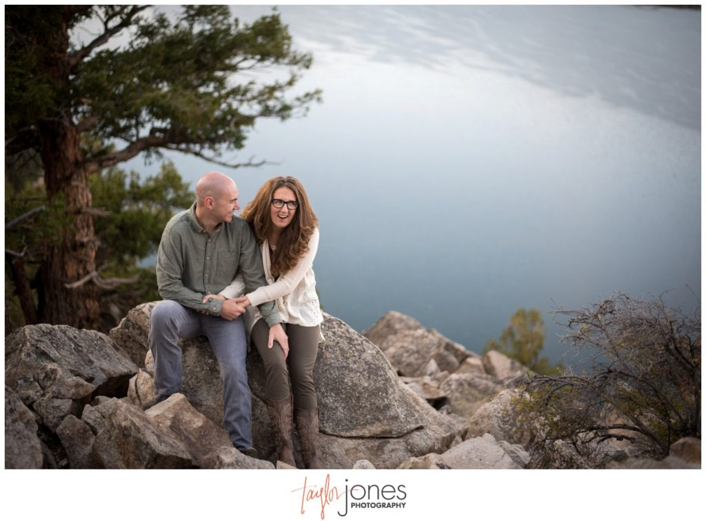 Sapphire Point engagement shoot in the falll