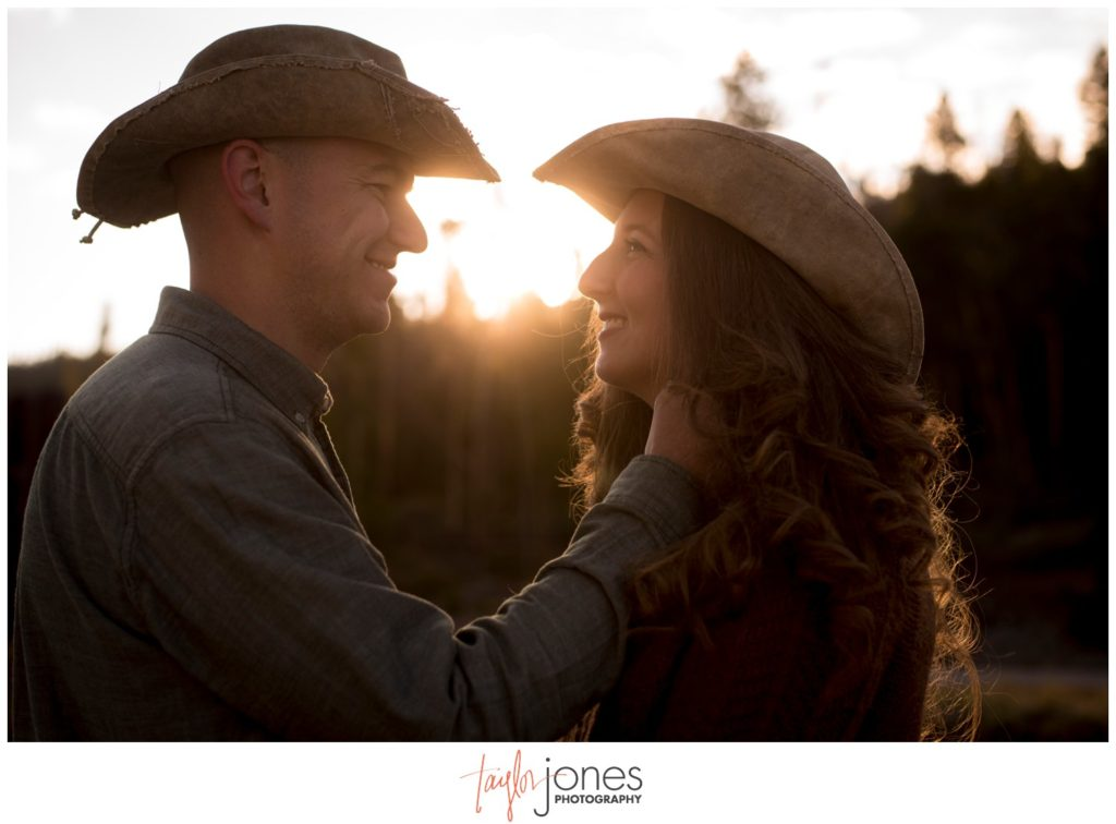 Sunrise engagement shoot at Sapphire Point in Dillon Colorado