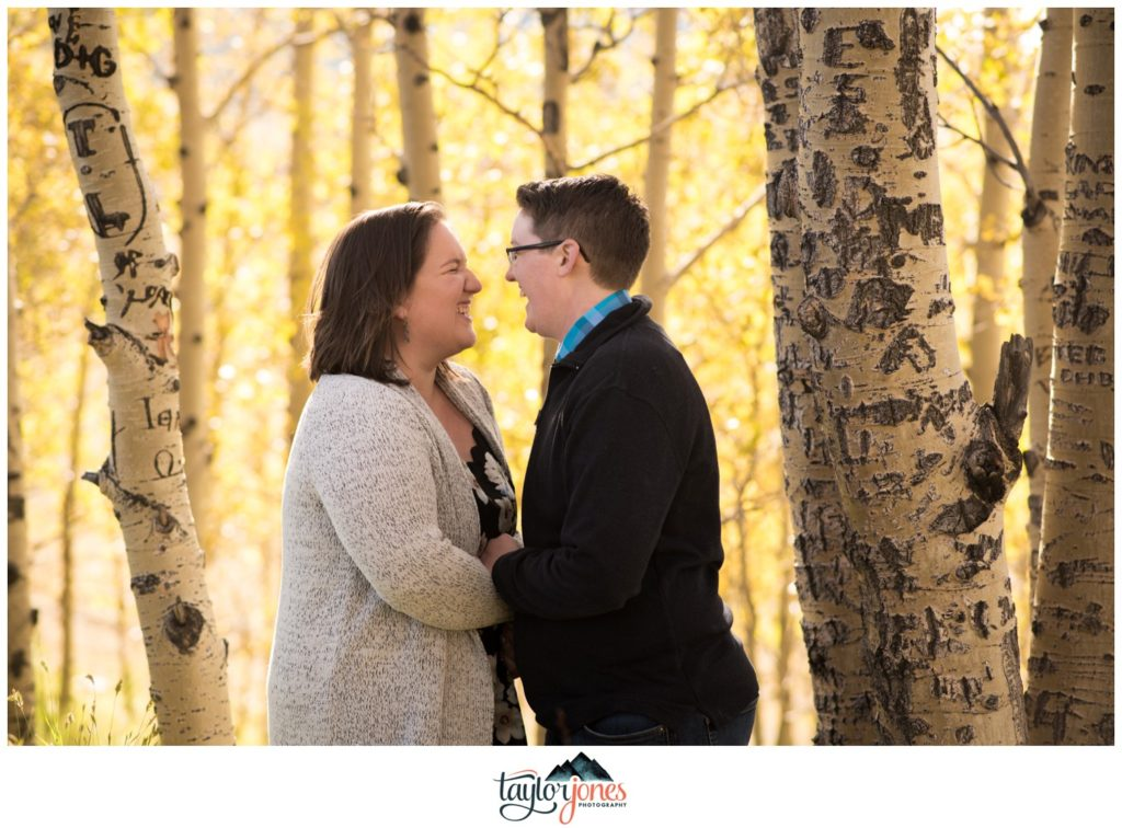 Kenosha Pass Fall engagement shoot