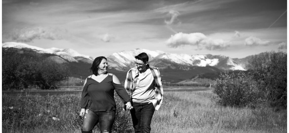 Kenosha Pass engagement shoot in the fall