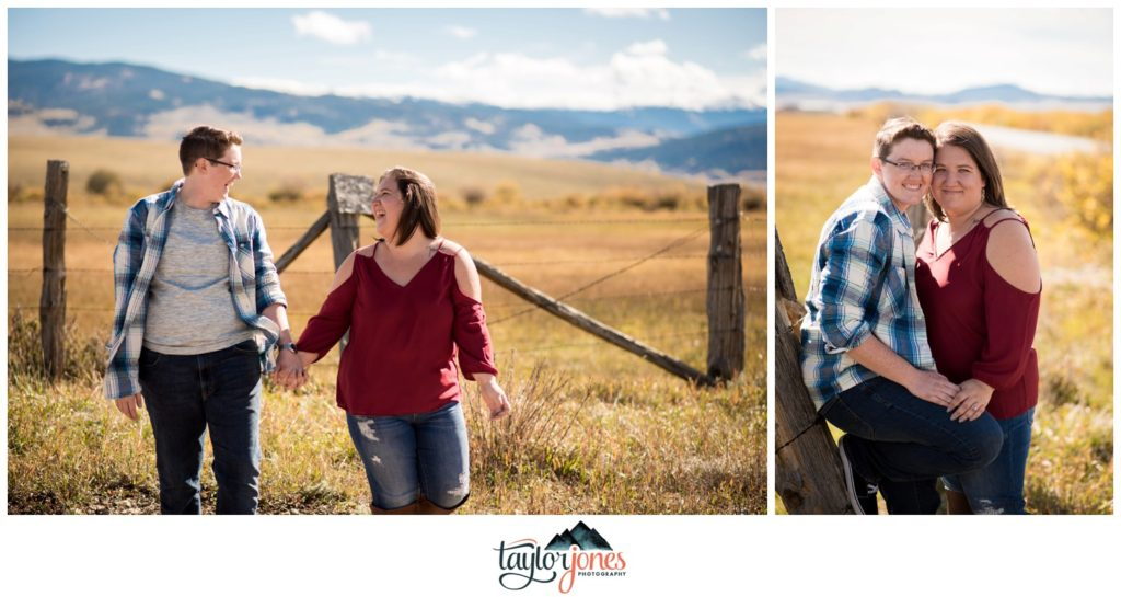 Colorado fall engagement shoot at Kenosha Pass