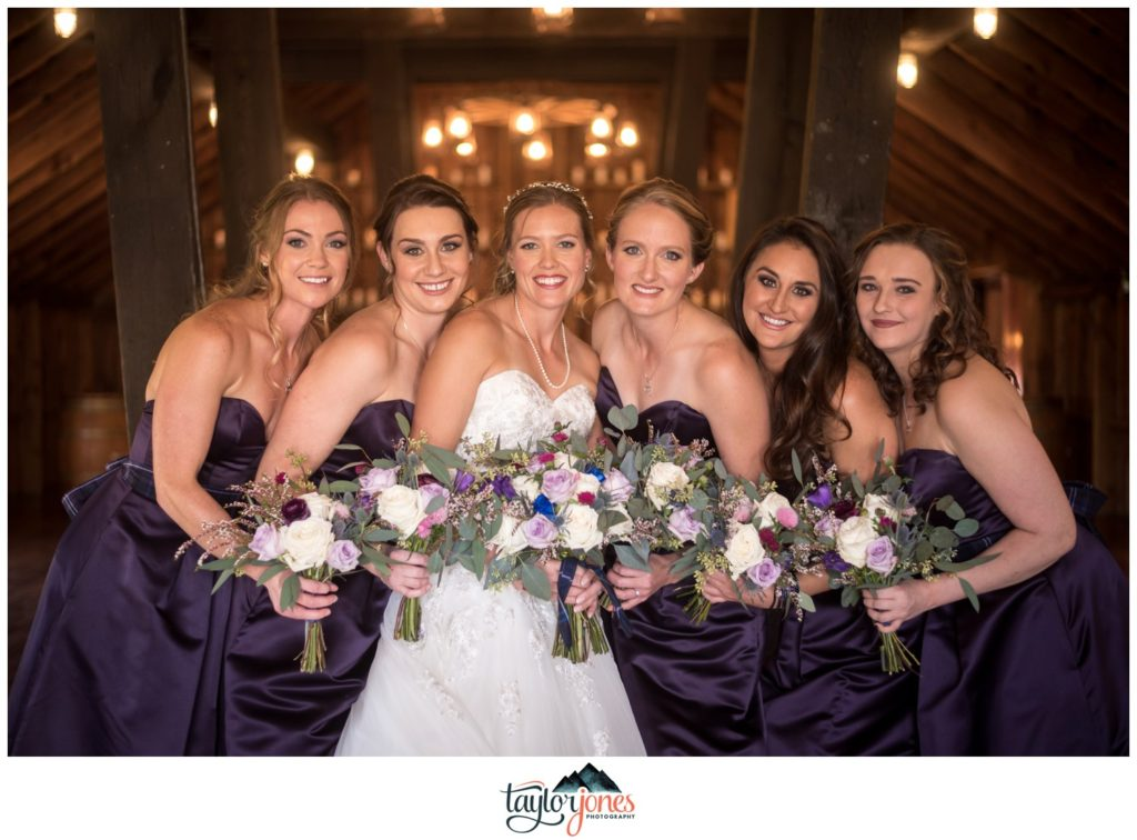 The Venue at Crooked Willow Farms wedding bridal party