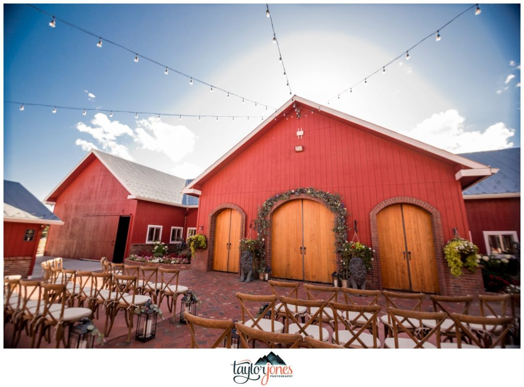 The Venue at Crooked Willow Farms wedding fall ceremony