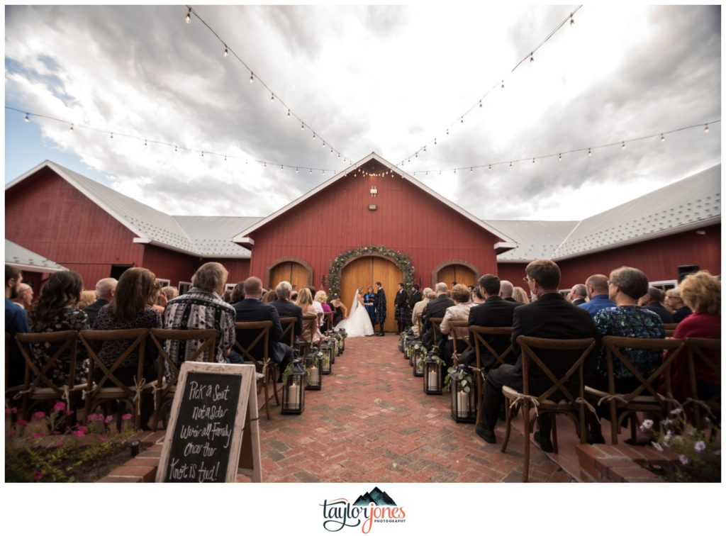 The Venue at Crooked Willow Farms ceremony