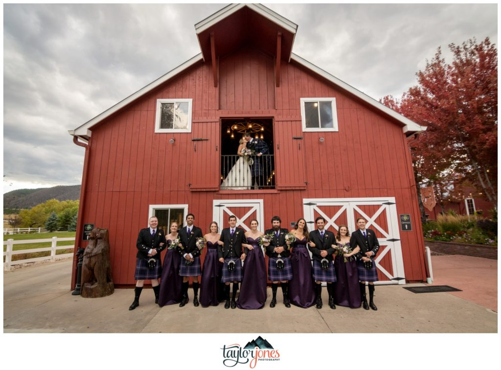 The Venue at Crooked Willow Farms bridal party