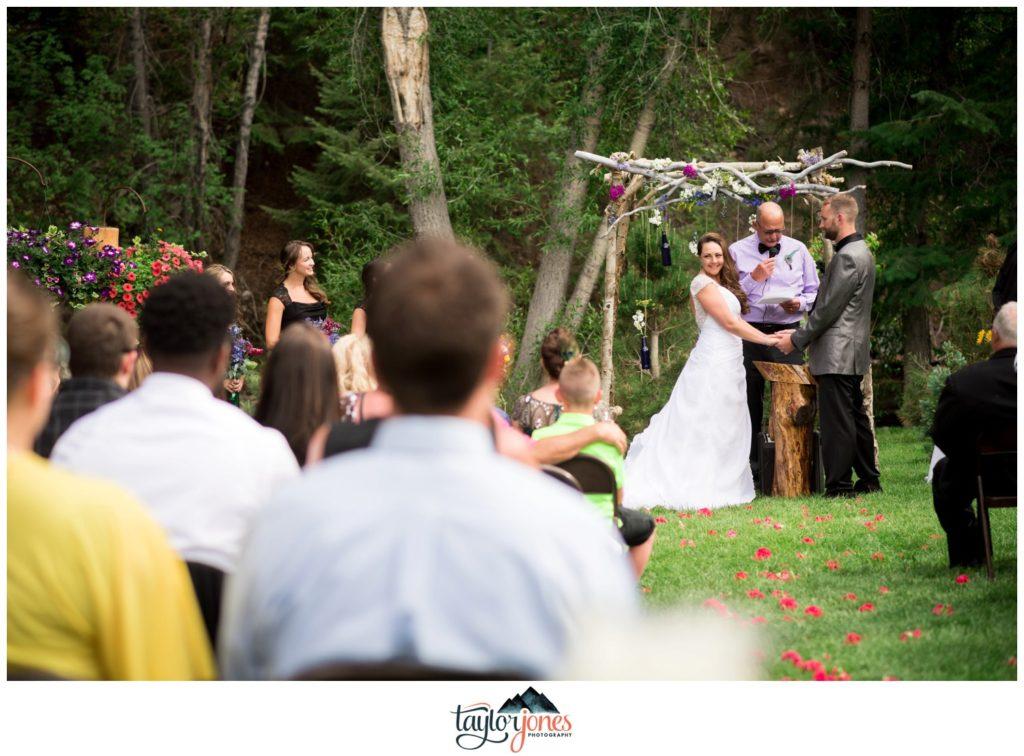 Mount Princeton summer ceremony wedding photographer