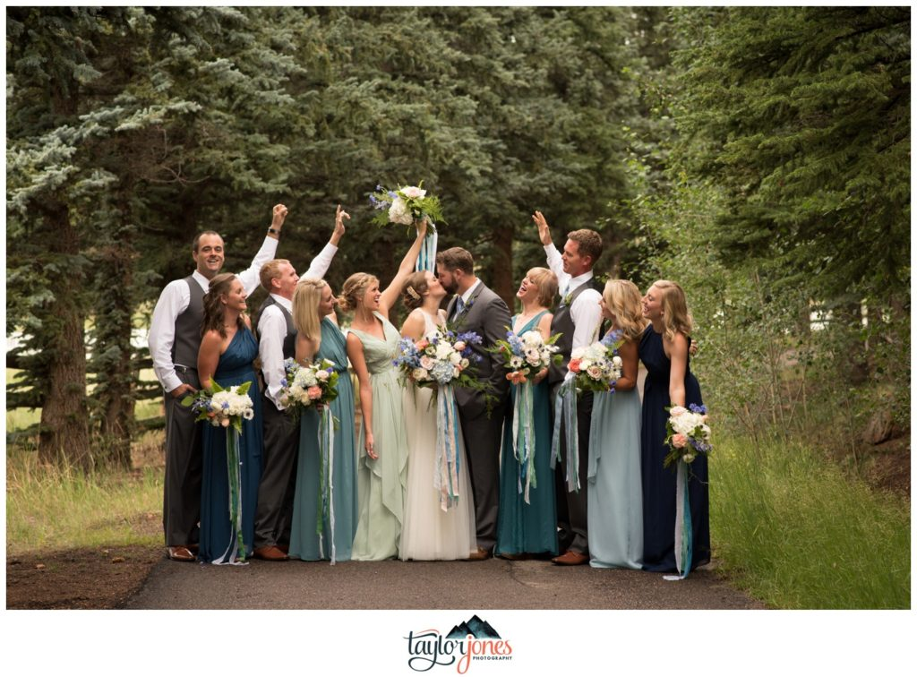 Bridal party at Deer Creek Valley Ranch wedding Ockerman
