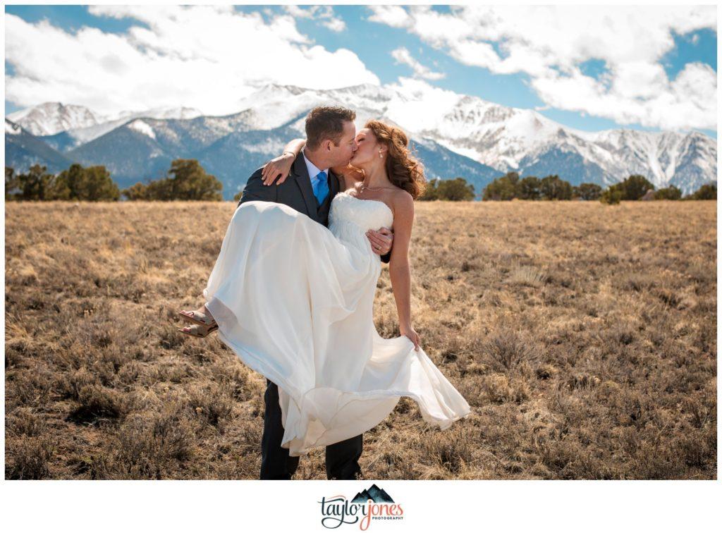 Mount Princeton Hot Springs Resort Nathrop Colorado winter wedding photographer