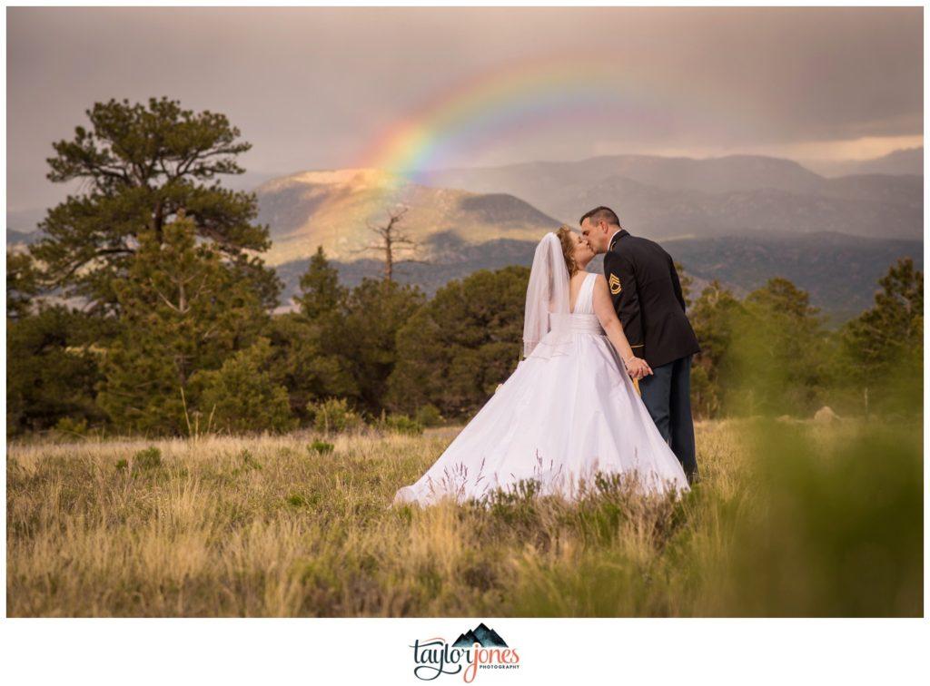 Mount Princeton Hot Springs Resort summer wedding with rainbow