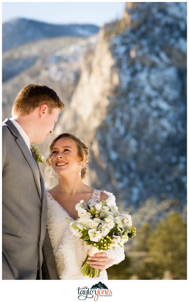 Mount Princeton Hot springs wedding in winter